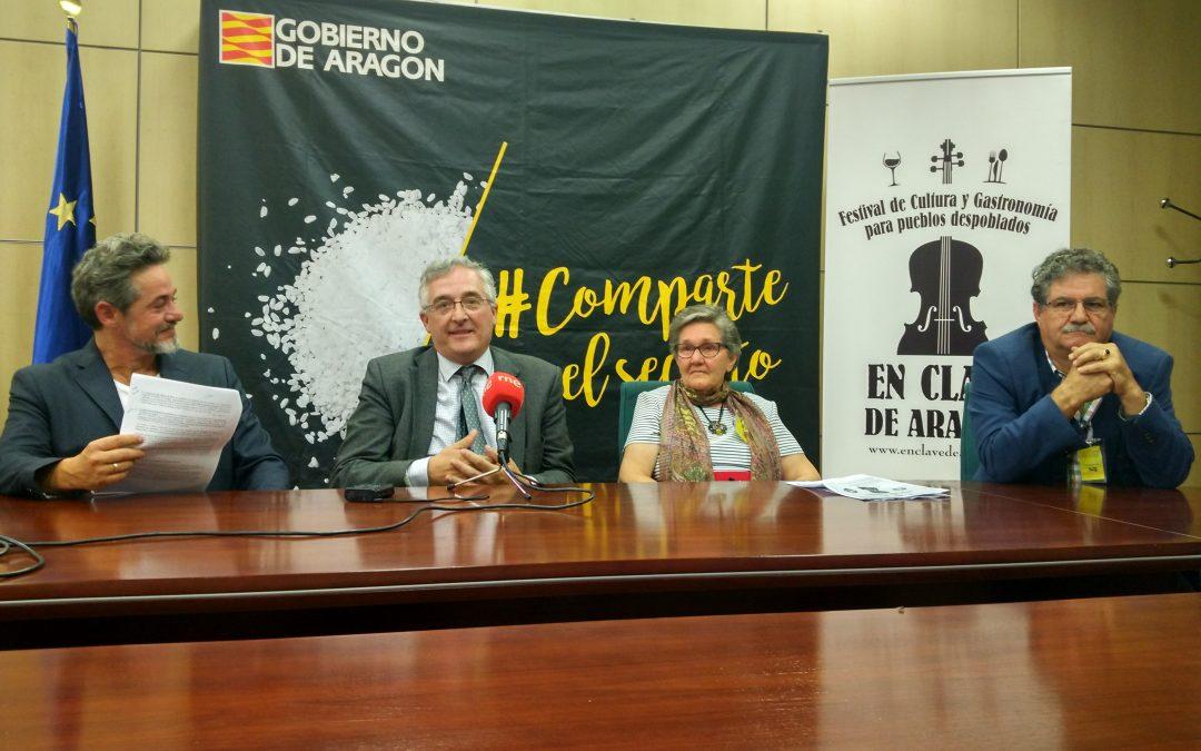 El consejero Olona apuesta por el festival En Clave de Aragón en la presentación a la prensa de su tercera edición
