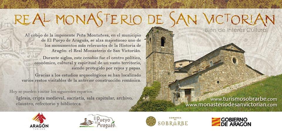 El Gobierno de Aragón mejorará el claustro y el acceso al Monasterio de San Victorián este año